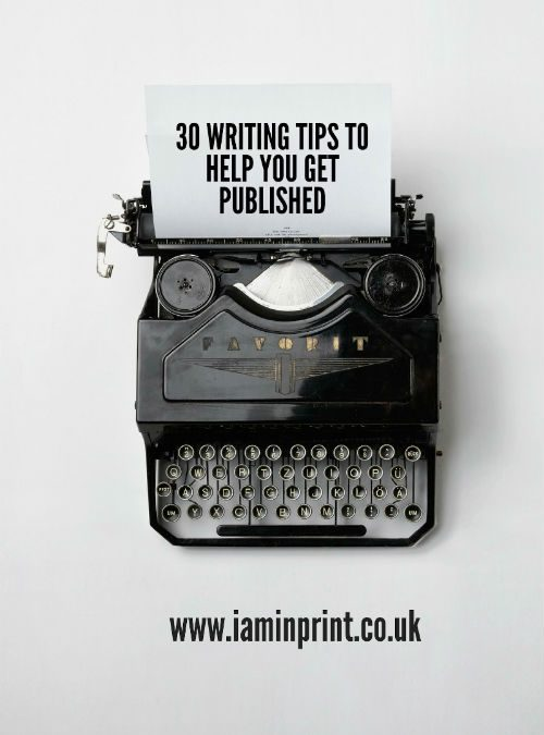 30 writing tips on how to get published